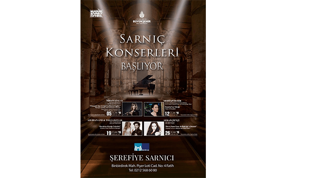 Classical Music Concerts to hold at the Şerefiye Cistern